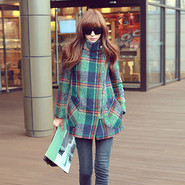 韩系大衣示范穿法